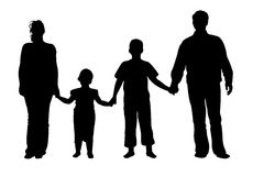 Family of four vector Royalty Free Stock Photography
