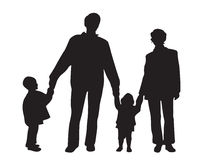Family of four vector Royalty Free Stock Photo