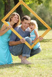 Family in a frame Stock Photography