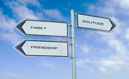 Family, friendship, solitude Royalty Free Stock Image