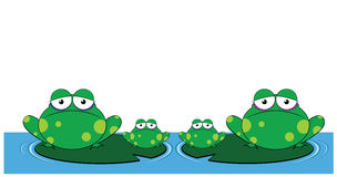 Family of frogs Royalty Free Stock Images