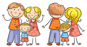Family Front and Rear Views Royalty Free Stock Photography