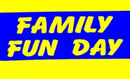 Family Fun Day Sign Stock Photos