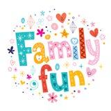 Family fun. Decorative type lettering design Stock Photos