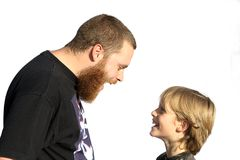 family fun, father an child Stock Photos