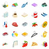 Family fun icons set, isometric style. Family fun icons set. Isometric set of 25 family fun vector icons for web isolated on white background Stock Images