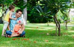Family fun outdoor Stock Photography