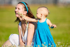 Family fun outdoors Royalty Free Stock Photos