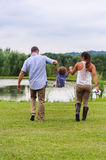 Family Fun Outdoors Royalty Free Stock Photography