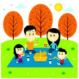 Family Fun Picnic at The Park Royalty Free Stock Photos