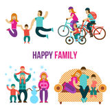 Family Fun Set Stock Photo