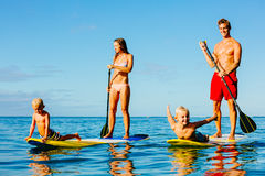 Free Family Fun, Stand Up Paddling Royalty Free Stock Images - 59332119