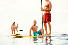 Family Fun, Stand Up Paddling Stock Photos