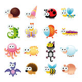 Family of funny animals. Cartoon and vector characters Stock Image