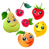 Family of funny fruits stock illustration