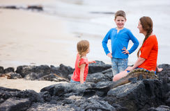 Family at Galapagos Royalty Free Stock Image