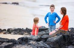 Family at Galapagos Royalty Free Stock Image