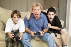 Family Game Night Stock Photo