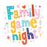 Family game night Royalty Free Stock Images