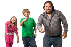 Family game time stock photography