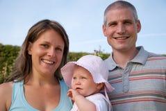 Family in the garden Royalty Free Stock Photos