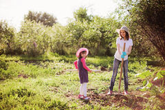 Family in garden. Stock Photography