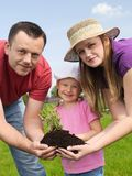 Family gardening Royalty Free Stock Photo