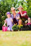 Family gardening Royalty Free Stock Photos