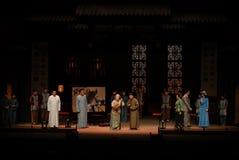 Family gathering- Drama autumn royalty free stock photo