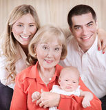 Family generation portrait Stock Photo