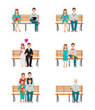 Family Generations Development Stages Process Over Time. Stock Images