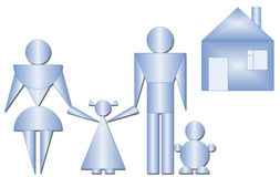 Family from geometric figures Stock Photos
