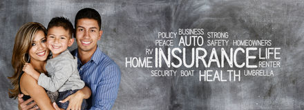 Family Getting Insurance Stock Image