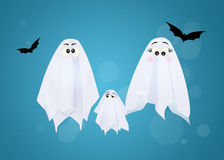 Family of ghosts Royalty Free Stock Photography