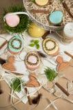 Family gift easter egg honey-cakes, gingerbread, celebration spring design Royalty Free Stock Photo