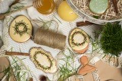 Family gift easter egg honey-cakes, gingerbread, kitchen celebration spring Stock Image