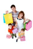 Family with gifts Stock Image
