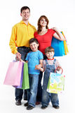 Family with gifts Royalty Free Stock Photo
