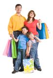 Family with gifts Royalty Free Stock Images