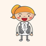 Family girl character theme elments. Vector illustration file Stock Image