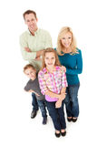 Family: Girl Leads Family Group Royalty Free Stock Image