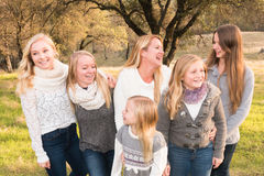 Family of Girls Royalty Free Stock Photography