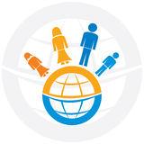 Family with globe Stock Photography
