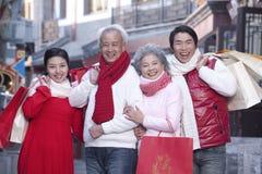 Family go shopping Stock Photos