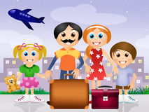 Family go on vacations. Illustration of family go on vacations Stock Image