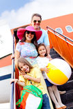 Family going on holidays Royalty Free Stock Photos