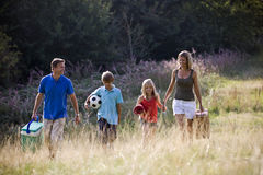 A family going on a picnic together Royalty Free Stock Image