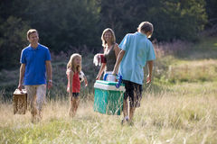 A family going on a picnic together Royalty Free Stock Photography