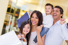 Family going shopping Stock Photo