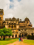 Family going to visit the Orchha Palace. India, family going to visit the Orchha Palace Stock Image
